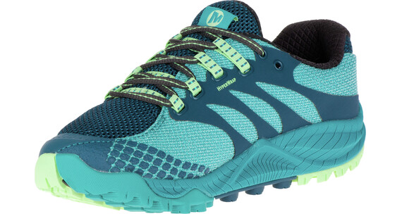 Merrell All Out Charge Hardloopschoenen Dames groen/blauw